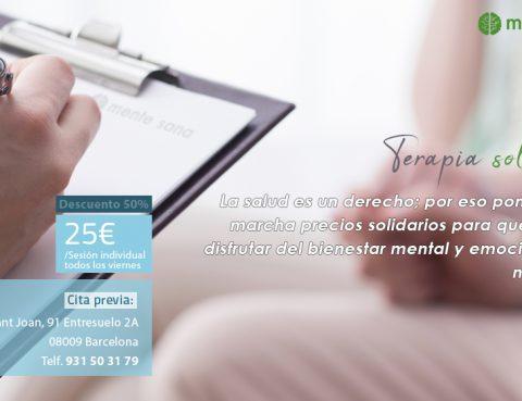 Barcelona Terapia solidaria Oferta Psicologo