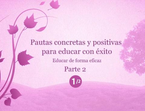 Pautas concretas y positivas para educar con exito 1